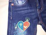 Стильные джинсы с подтяжками92 размер