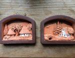 Panels of ceramics