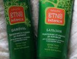 Shampoo and balm etno botanica