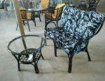 Sofa + table (rattan)