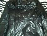 Stylish branded leather jacket.
