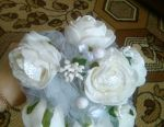 Wedding bouquet of artificial flowers (new)