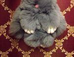 Брелок кролик з натурального хутра