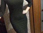 Rochie lungă în mazăre