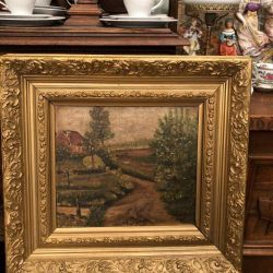 Picture in a chic antique baguette