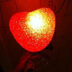 Gece ışık kalp