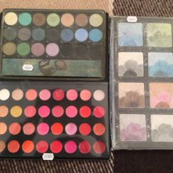 Pencils, make-up pallets, eyeliners, blush