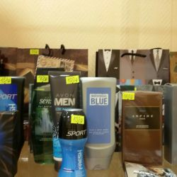 Cosmetics and perfumes avon in stock