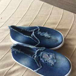 Jeans çocuk kot pantolonları yeni