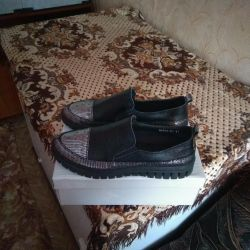 Shoes natural leather 41 size new