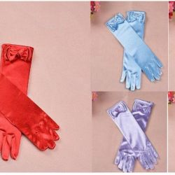 Gloves with a bow (for children)