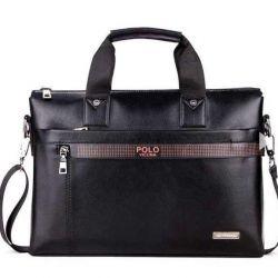 Men's briefcase Polo Vicuna black