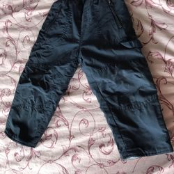 Trousers children's spring with warming