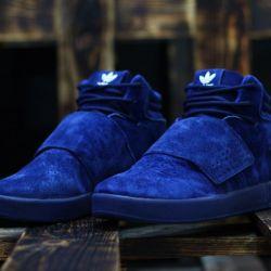 Adidas Tubular Strap blue
