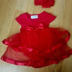 Боди-платье нарядное и повязка