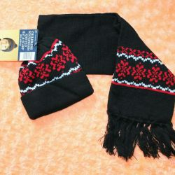 Hat and scarf (set) for a boy.