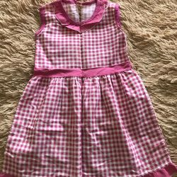 Dress 100% cotton for a girl 5-6 years old!