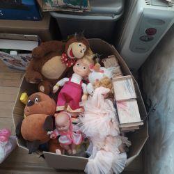 Toys boxed. Dollhouse