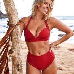 Red High Waist Swimsuit