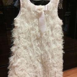 The dress is elegant, children's