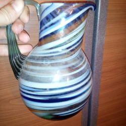 Pitcher vintage milk glass