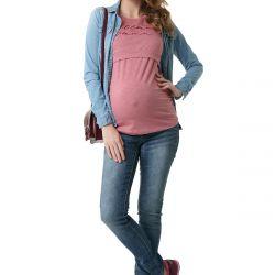 Hamile ve emzirme için yeni paris tişört