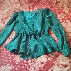 Super blouse with a belt, 42-46 rr
