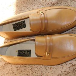Туфли (ботинки) рыжие