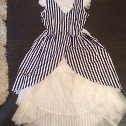 Платье со шлейфом размер 40-44