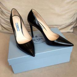 Νέες παπούτσια παπούτσια Prada (πρωτότυπες) με τακούνια