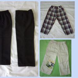 Trousers boy 1-3 g, height 80-102 cm (3pcs), excellent