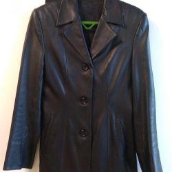 Jacket jacket female, genuine leather river 44-46