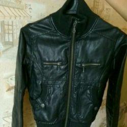 Jacheta bombardieră din jachetă din piele