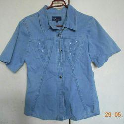 Το πουκάμισο είναι γυναικεία τζιν