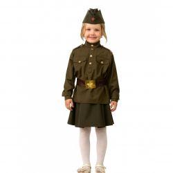 Costum militar pentru fată