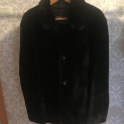 Mouton coat with mink