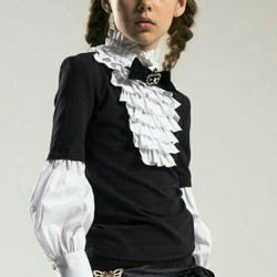 Blouse School Jabot Noble People 9-10 years old