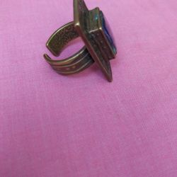 Antique copper ring.