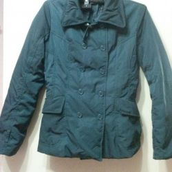 The jacket is insulated dark green. 42-44 rr.