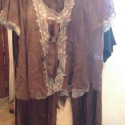 Pajamas, new, natur.shelk, original, England р.50-54