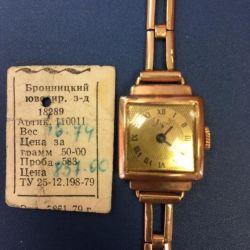 Ceasuri de mână de aur pentru URSS aur 583