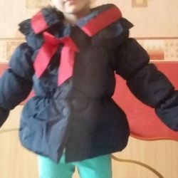 Jacket for a girl 100-110 cm