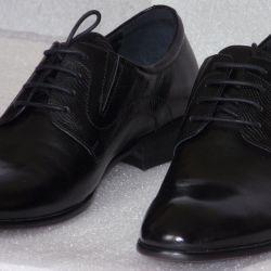 44 Low shoes leather black DinoRicci