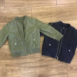 Two jackets h & m 98 and 104 p light insulation