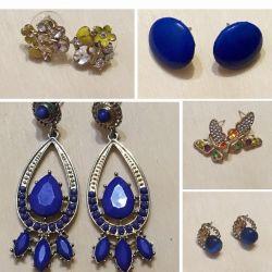 Costume jewelery, earrings, studs