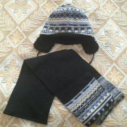 Σετ: καπέλο και κασκόλ
