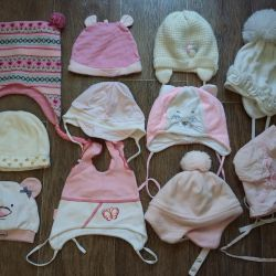 Caps for a girl up to 1 year