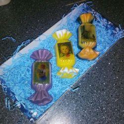 Souvenir soap sweets