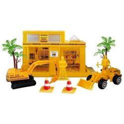 Construction kit with grader and excavator