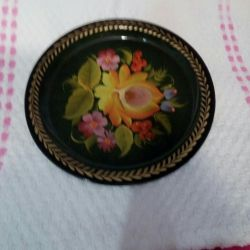 Zhostovo tray, spoons painted